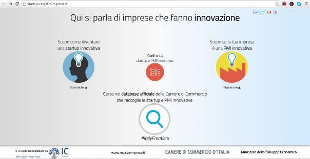 Nuovo sito dedicato alle start up innovative
