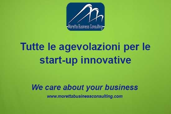 Scheda di sintesi delle agevolazioni per le start up innovative