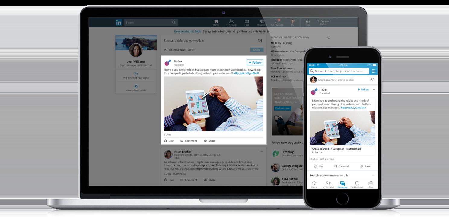 Promuovere contenuti su LinkedIn - Sponsored Content